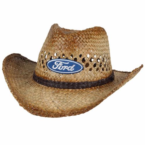Ford Straw Cowboy Hat