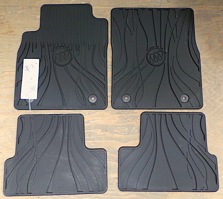 Floor Mats, All Weather, Front and Rear, Black