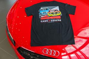 2017 Harper Auto Square Cars & Coffee T-Shirt (Black)