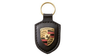 Porsche crest keyring, black
