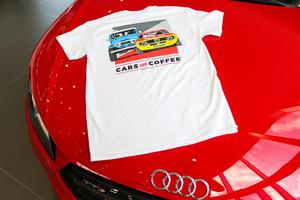 2017 Harper Auto Square Cars & Coffee T-Shirt (White)