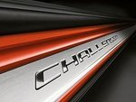 2008-2014 Dodge Challenger Stainless Steel Door Sill Entry Guards w/ Challenger Logo