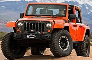 """LED 7"""" Round Headlights for Jeep JK"""