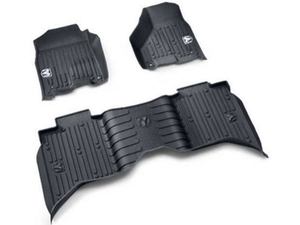 Ram 2500, 3500 All Weather Floor Mats - Black with Ram's Head logo