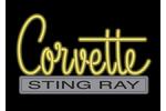 Corvette Emblem C2 Neon Sign- Yellow