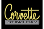 Corvette Emblem C2 Neon Sign- Yellow