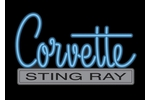 Corvette Emblem C2 Neon Sign- Blue