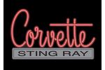 Corvette Emblem C2 Neon Sign- Red