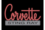 Corvette Emblem C2 Neon Sign- Red